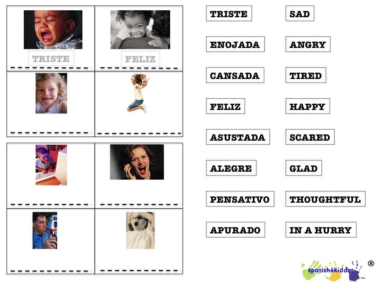 My Feelings Bingo Game Spanish4kiddos Educational Resources