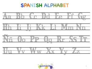 Spanish alphabet writing lesson - copyright