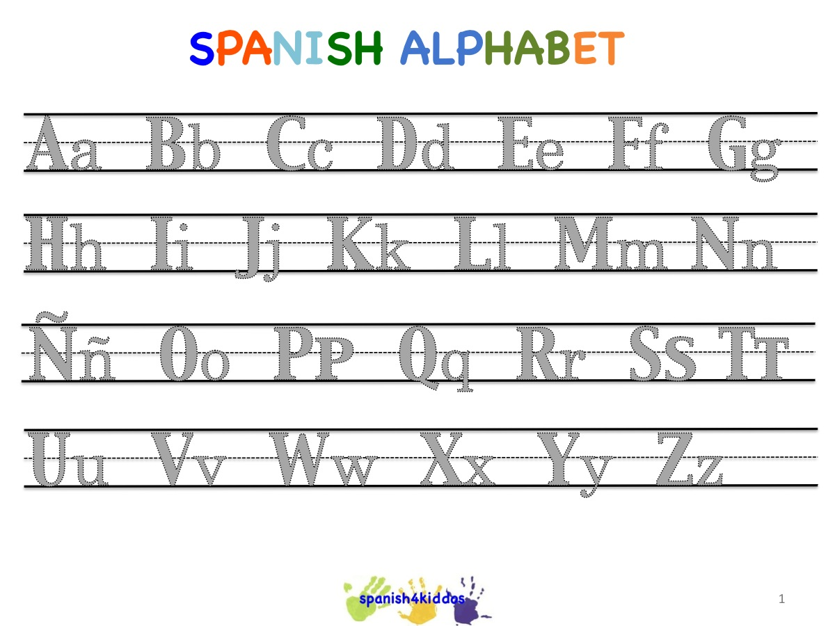 Spanish alphabet writing lesson spanish4kiddos educational resources practice writing spanish letters of the alphabet see more at spanish lessons for kids learning the spanish alphabet spiritdancerdesigns
