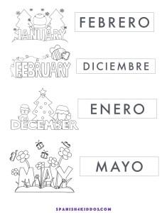 teach months in spanish