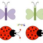 Butterflies Ladybugs Patterns