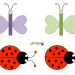 Butterflies Ladybugs Patterns