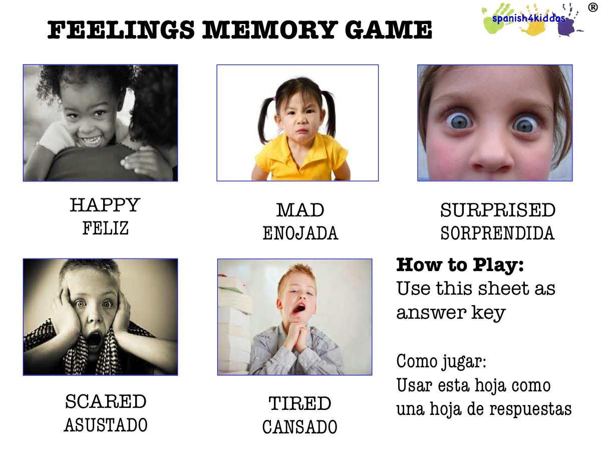 Feelings Lesson Plan In Spanish
