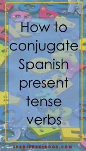conjugate Spanish present tense verbs