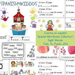 Spanish sight words mini-books collection 1