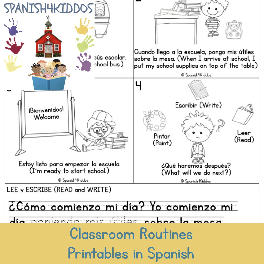picture about Spanish Printable named Clroom Physical exercises Printables in just Spanish Spanish4Kiddos