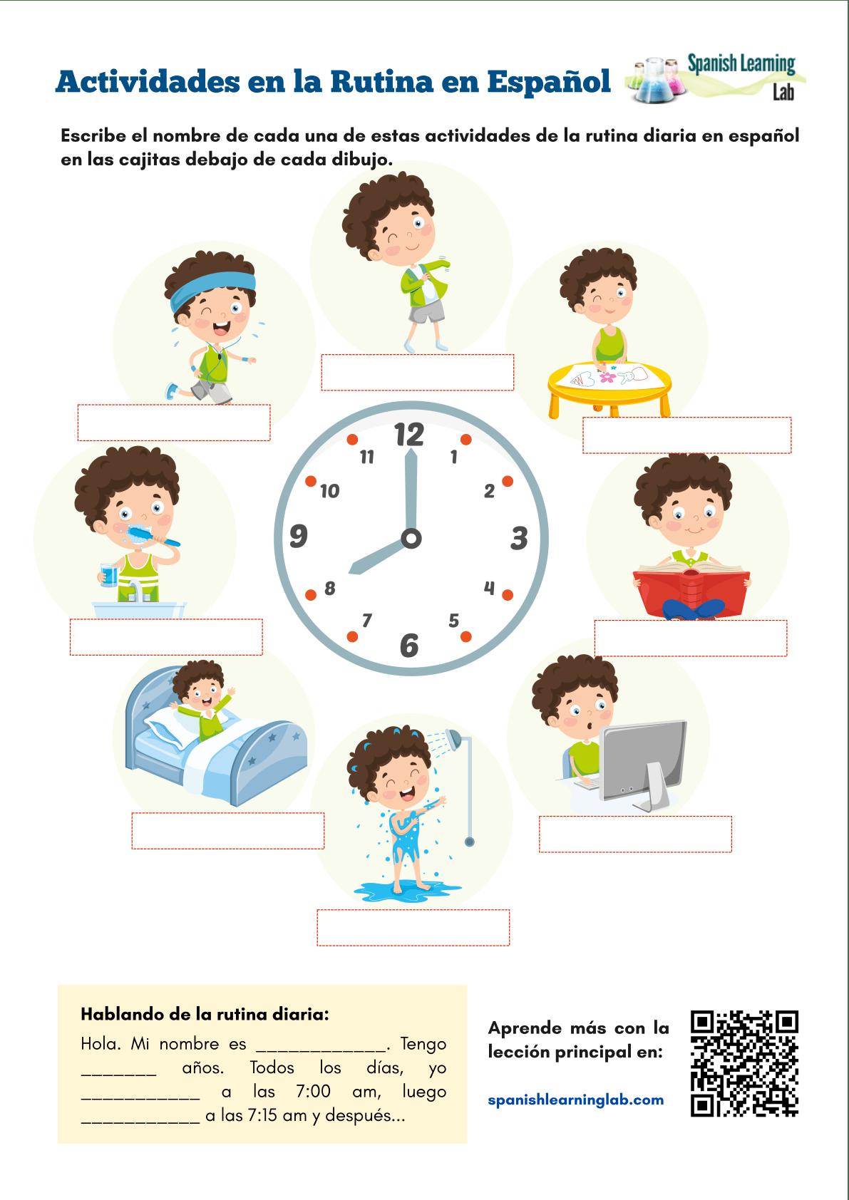 Daily Activities In Spanish