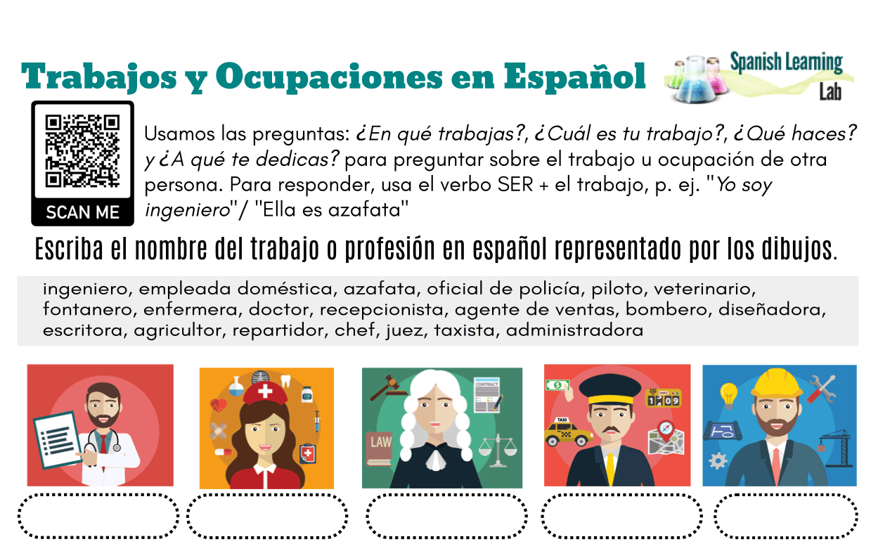 Jobs And Occupations In Spanish