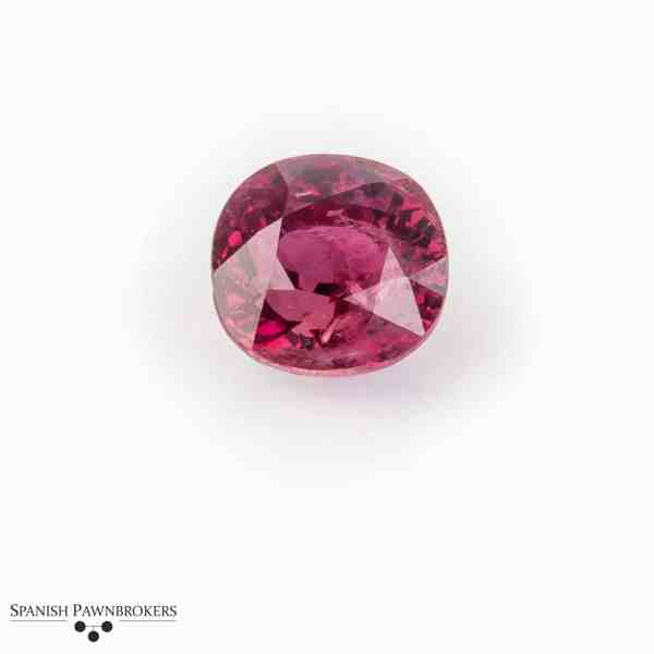 Loose Red Ruby Madagascar Oval faceted certificated GCS heated 5.31 carats