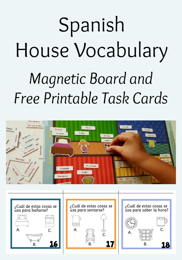 House Vocabulary In Spanish Magnetic Board Spanish