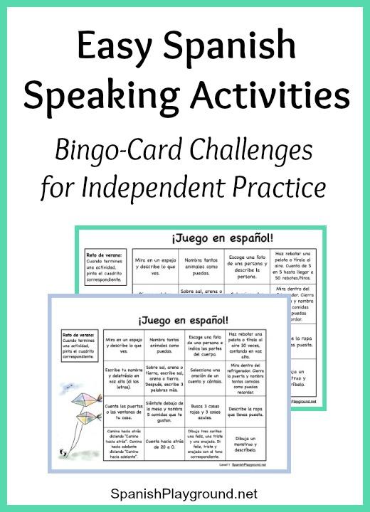 Easy Spanish Speaking Activities For Independent Practice
