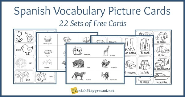 Spanish Vocabulary Picture Cards by Theme - Spanish Playground