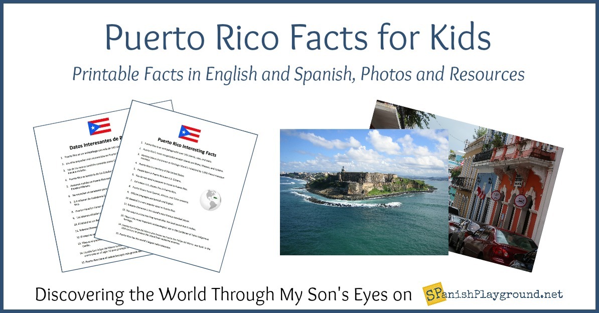 Puerto Rico Facts For Kids In Spanish And English