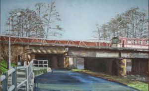 Viaduct  60 x 45 cm  olieverf op doek  2009