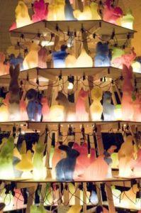 Installatie Klein Dieren Festijn, 300 dieren van paraffine, Julianapark, Schiedam, december 2008