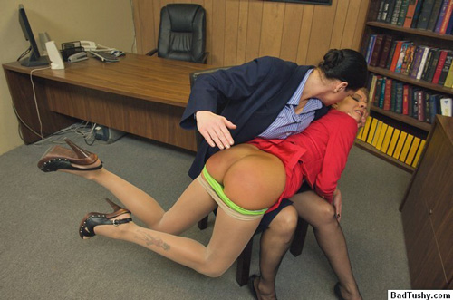Riley Evans' punishment continues on her beautiful, tanned, bare bottom
