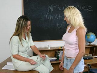 Teacher spanks girl for cheating in tests