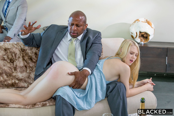 Lily Rader gets a sexual punishment which includes a hard OTK spanking and fucking a big dick