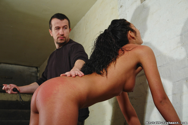 Hot body euro babe, Isabell, bends over for more punishment from the whip