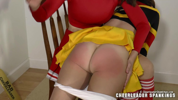 Jordana Leigh gets her bottom bared and spanked