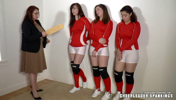 Miss Elizabeth is determined to punish the three bullies, Adriana Evans, Ava Nicole and Mackenzie Reed, in Spanked Bullies