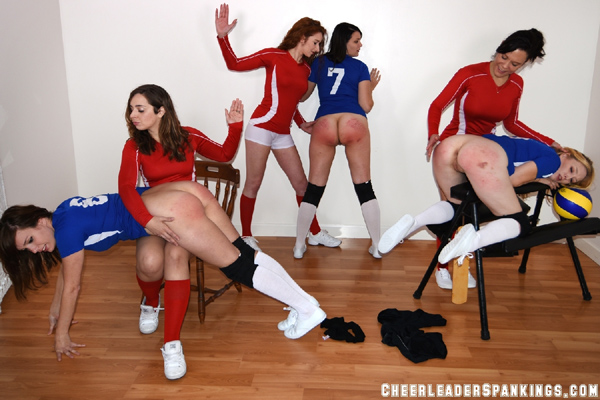 Del, Ava and Lexi get spanked together by Adriana Evans, Audrey Sugarsmak and Bianca Rose