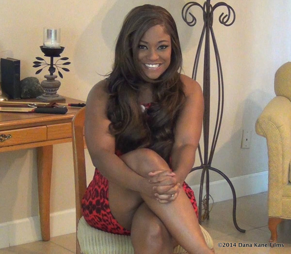 Ebony amateur Erica had never been spanked before