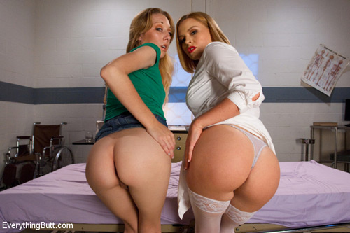 Big booty nurse Krissy Lynn and Emma Haize