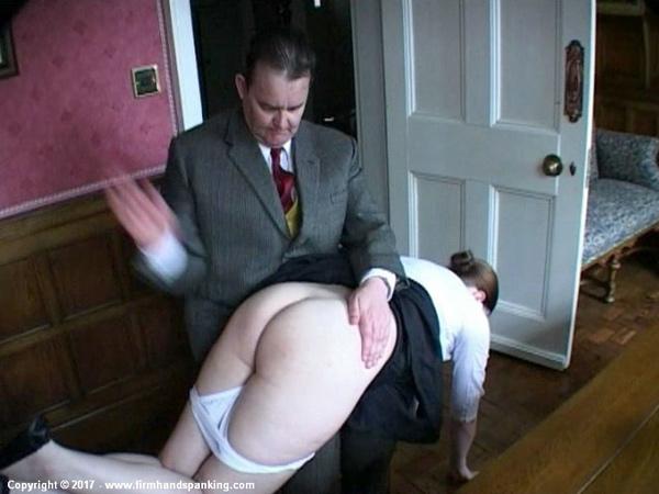 Pandora Blake gets a hard spanking from polite Henry Higgins