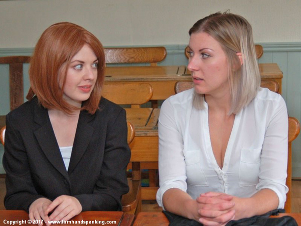 Belinda Lawson and Helen Stephens punished together at Reform Academy