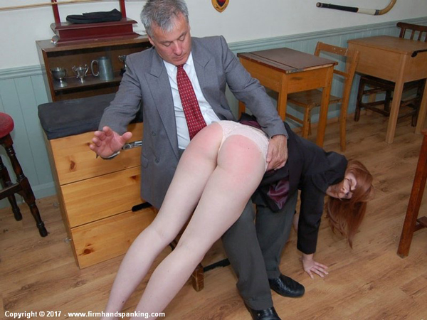 Helen Stephens' animated reactions while she is spanked OTK in Reform Academy