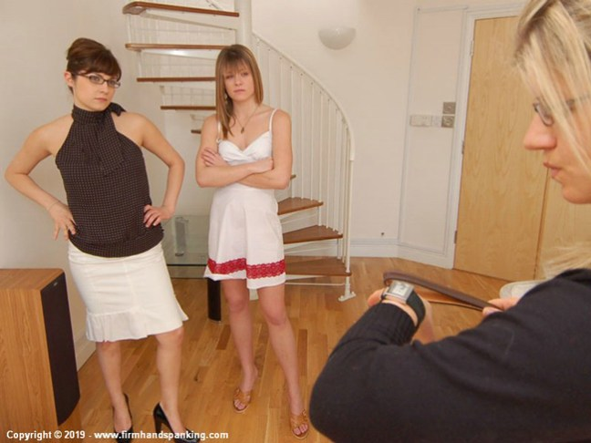 Samantha Woodley is in trouble with the strict magazing boss in Editorial Judgement at Firm Hand Spanking