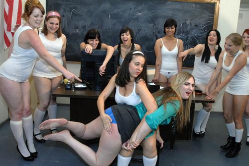 Clare Fonda's Exclusive Education 5 on Girl Spanks Girl