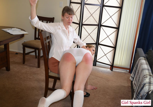 Ashley Rose's big bottom gets spanked in her white panties and on the bare