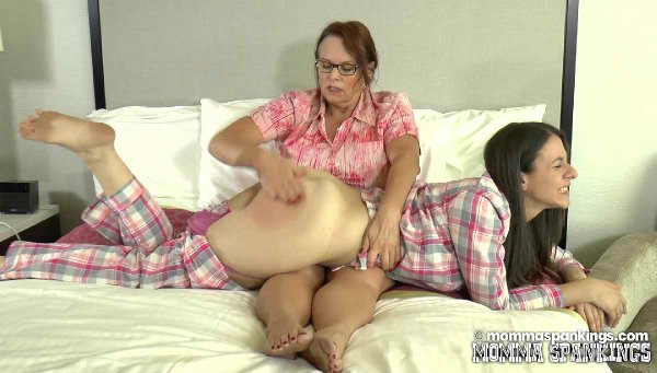 Miss Elizabeth makes Sarah's big bottom jiggle with the force of impact of her spanking