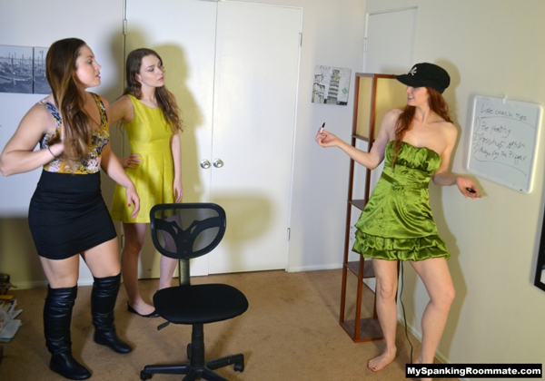 Madison Martin, Alaina Fox and Veronica Ricci in Life Coach Spankfest at My Spanking Roommate