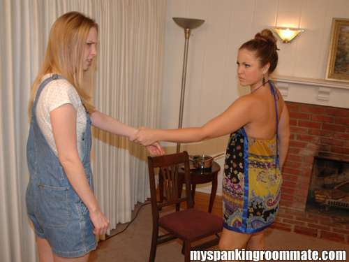 Chloe Elise gets pulled into position