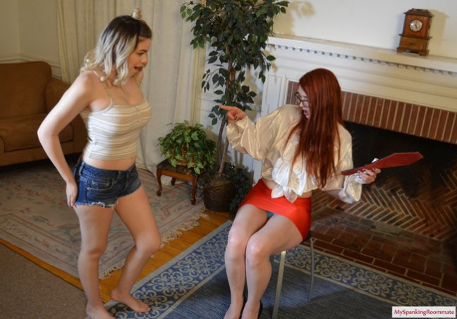 Cora Ora is spanked for Stomping at My Spanking Roommate