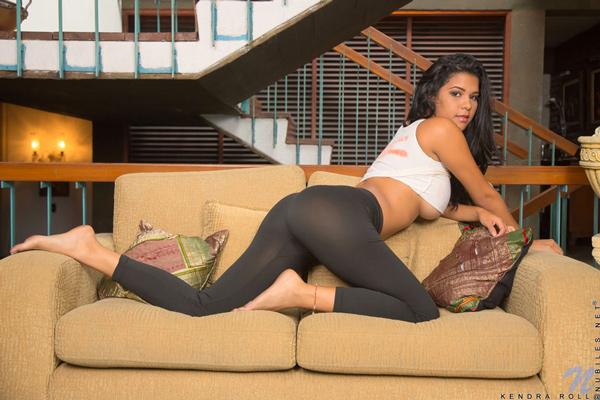 Kendra Roll's spankable bottom in yoga pants