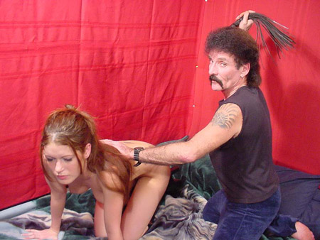Cutie on All Fours gets Whipped and Spanked