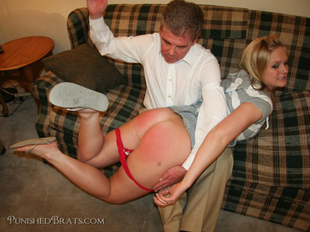Lilly Page changes her tune after a hard OTK spanking