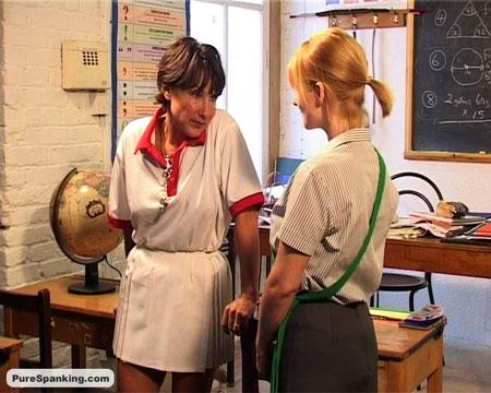 Strict Lesbian Teacher Spanks Naughty Schoolgirl