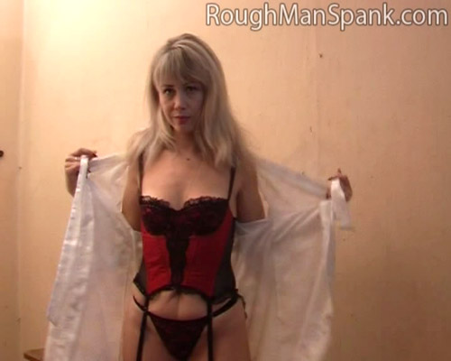 Blonde Mom in lingerie requests her Whipping
