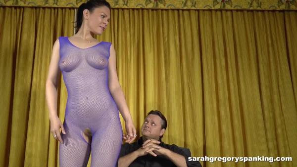Stripper Audrey Sugarsmak is pretty much naked in her seethru body stocking