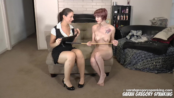 Sarah Gregory and a completely nude Ava Nyx