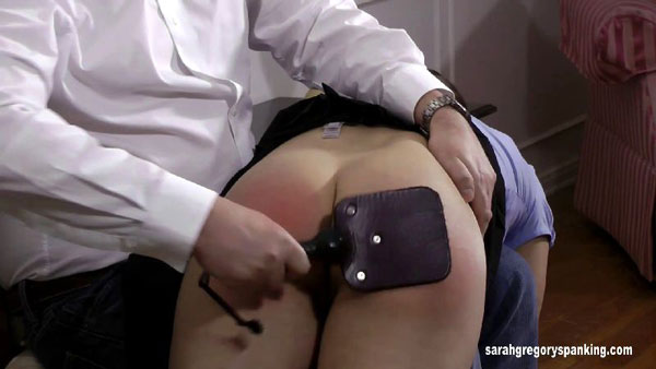 Casey Calvert gets expelled from school and punished with the leather paddle