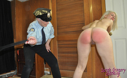The interrogation continues when Sarah gets a nude strapping on her already sore bottom