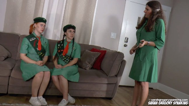 Stevie Rose and Elori Stix are two naughty girl scouts who are in trouble with troupe leader, Miss Bernadette