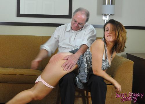 Sarah gets a bare bottom OTK spanking on thanksgiving