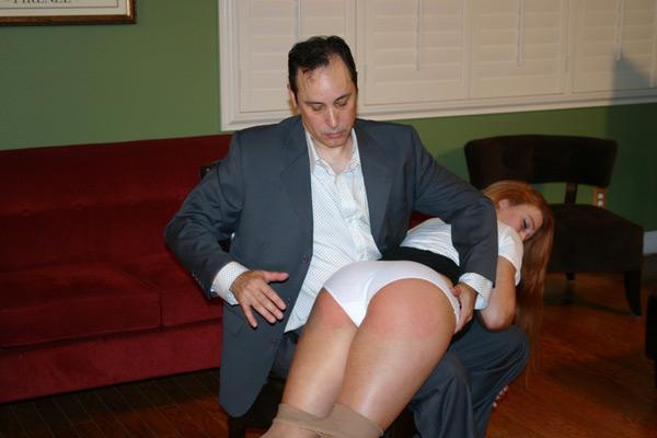 Arthur spanks Cheyenne Jewel OTK over her white panties